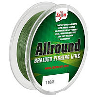 Allround Braided Fishing Line (green), 0,14mm, 9,43kg, 110m