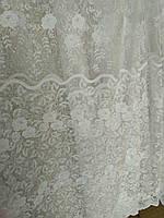 Тюль Фатин вышивка розы , фото 1