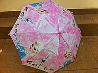 Детский зонтик для девочки на 8 спиц  холодное сердце