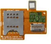 Шлейф для Sony ST23i Xperia Miro с коннектором SIM-карты и карты памяти