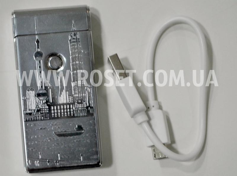 Запальничка електронна Jin Jun Hong Kong USB Charge
