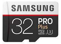 Карта памяти SAMSUNG microSDHC 32GB PRO PLUS UHS-I G3 (R100, W90MB/s)