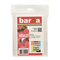 Бумага матовая BARVA 230г/м2 10x15 50+10арк (IP-A230-249)