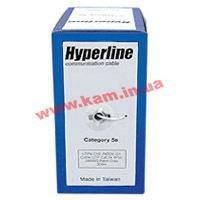 Hyperline Кабель UTP CCA Cat5E 24AWG x 4P Solid 0.51 (UTP4-C5e-SOLID-2451-CCA)