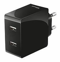 Сетевая зарядка Trust 2x12W Fast Dual USB wall Charger, фото 1