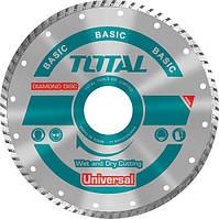 Диск алмазный (турбо) по бетону Total TAC2131253 универс, 125х22.2мм