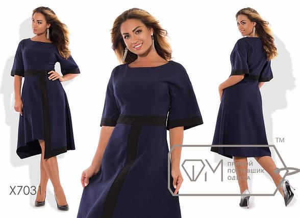 Платье больших размеров с асимметричной юбкой, фото 2