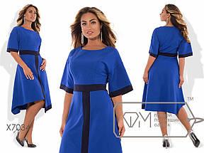 Платье больших размеров с асимметричной юбкой, фото 3