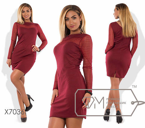 Платье больших размеров с гипюровыми вставками, фото 2