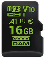 Карта памяти Goodram microSDHC 16GB A1 C10 V30 UHS-I no adapter