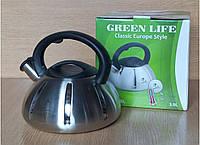 Чайник металический Green Life GL-5303 BL