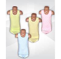 Детский комплект белья для девочки, майка и трусы, мультирип, р.р.24-34