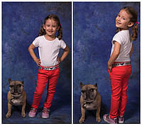 Цветные детские джинсы, на девочку. Коралл, 4 цвета.