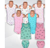 Детский комплект белья для девочки, майка и трусы, р.р.24-36