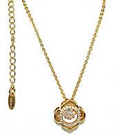 Цепочка с кулоном фирмы Xuping, цвет:позолота. Камни: белый циркон. Длина цепочки: 46 см. Диаметр кулона:15 мм