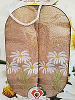 """Подарочный набор махровых полотенец для ванной комнаты """"Ромашки"""",торговой марки """"TWO DOLPHINS"""""""