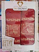 """Подарочный набор махровых полотенец для ванной комнаты """"Версаче"""",торговой марки """"TWO DOLPHINS"""""""