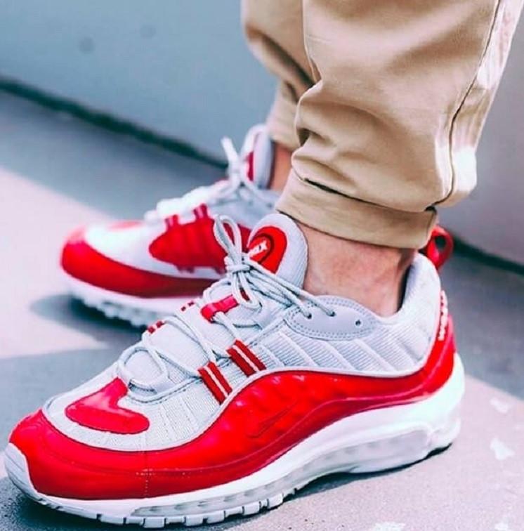 5e4e503a Кроссовки nike? Купи Supreme x Nike Air Max 98 Red в магазине  tehnolyuks.prom