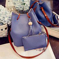 Большая сумка мешок клатч, набор 2в1. Отличное качество. Продуманный дизайн. Удобная сумка. Код: КДН2115