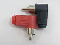 Штекер RCA, под шнур, угловой, корпус пластик,10 штук