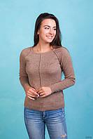 Класический женский бежевый свитер