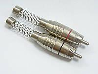 Штекер RCA , с длинной пружиной, диам.- 8мм, металл