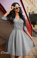 Платье женское стильное с пышной юбкой трикотаж джерси разные цвета SMdi1688