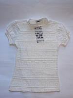 Нарядная молочная блузка для девочек от 128 до 164 см рост.