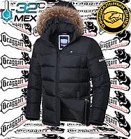 Куртка с мехом зимняя Braggart - 4233#4234 черный