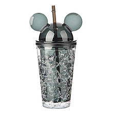 Стакан охлаждающий Микки Маус Ice Cup ,450 мл. черный