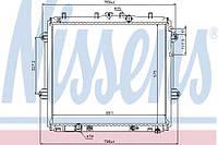 Радиатор охлаждения toyota land cruiser prado j150 (09-) 4.0 i v6 (производство Nissens ), код запчасти: 646825