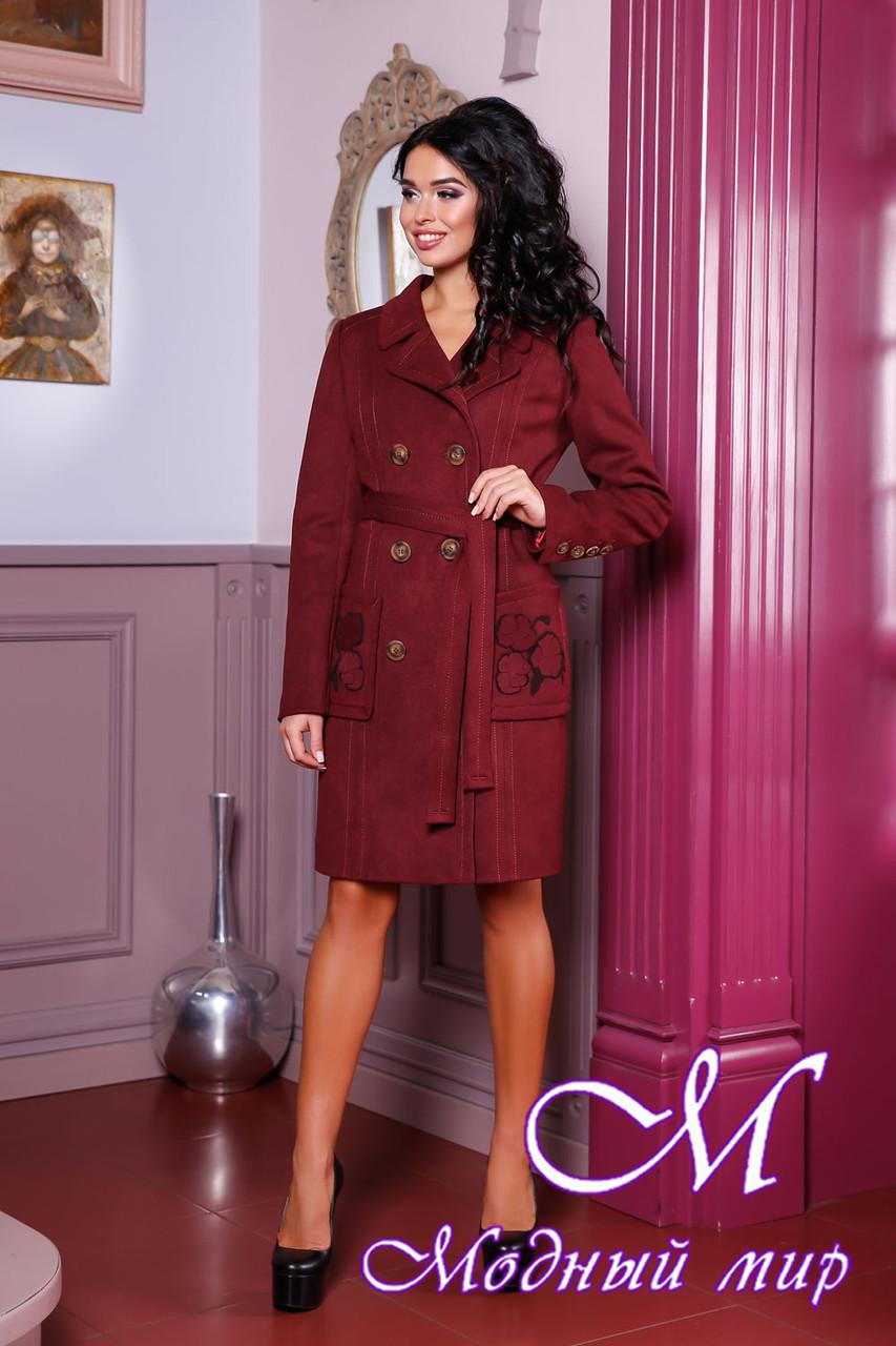 Женское двубортное осеннее пальто (р. 44-54) арт. 1008 Тон 5