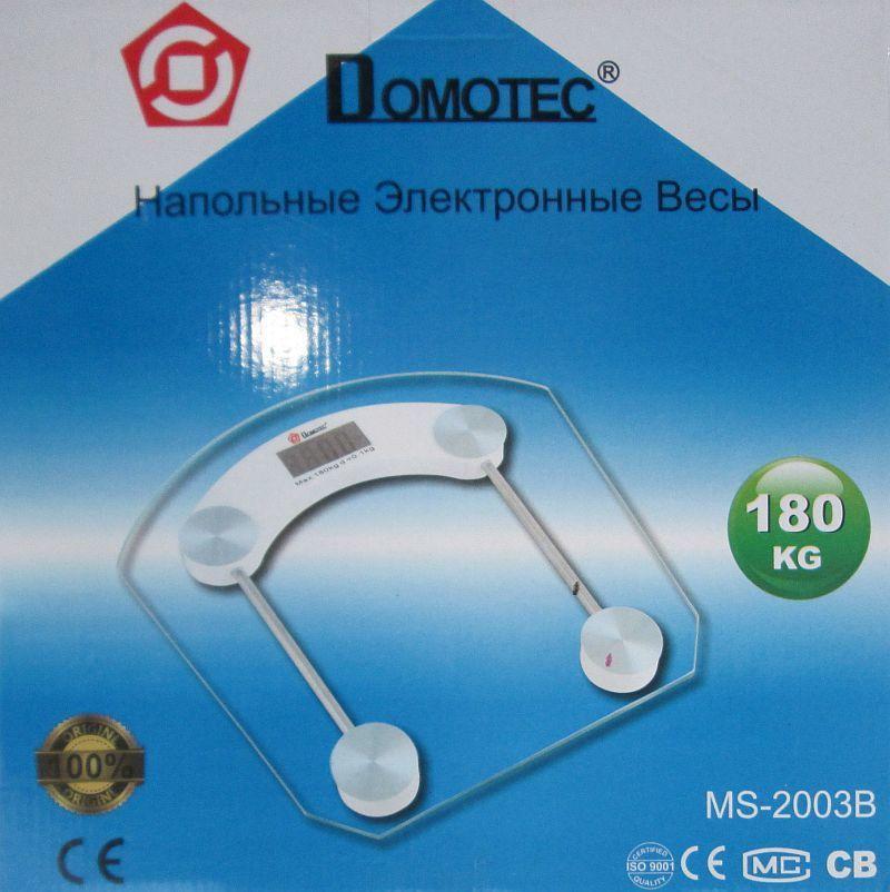 Напольные весы Domotec 2003a, 2003b до 180 кг (шаг 0,1 кг)
