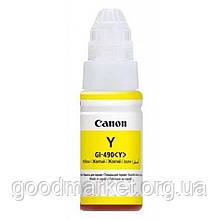 Водорастворимые чернила для принтера Canon GI-490 Yellow (0666C001)