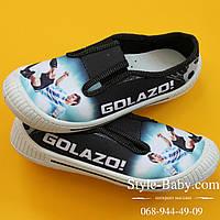 Кеды мокасины на мальчика спортивная текстильная обувь тм 3F р.30,32,33,34,35