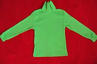 Детский гольф зеленый водолазка