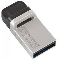 Flash Drive Transcend JetFlash OTG 880 16GB Metal Silver USB 3.0