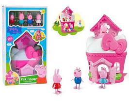 Набор игровой с фигурками Свинка Пеппа Peppa Pig Розовый ДомикXZ-405