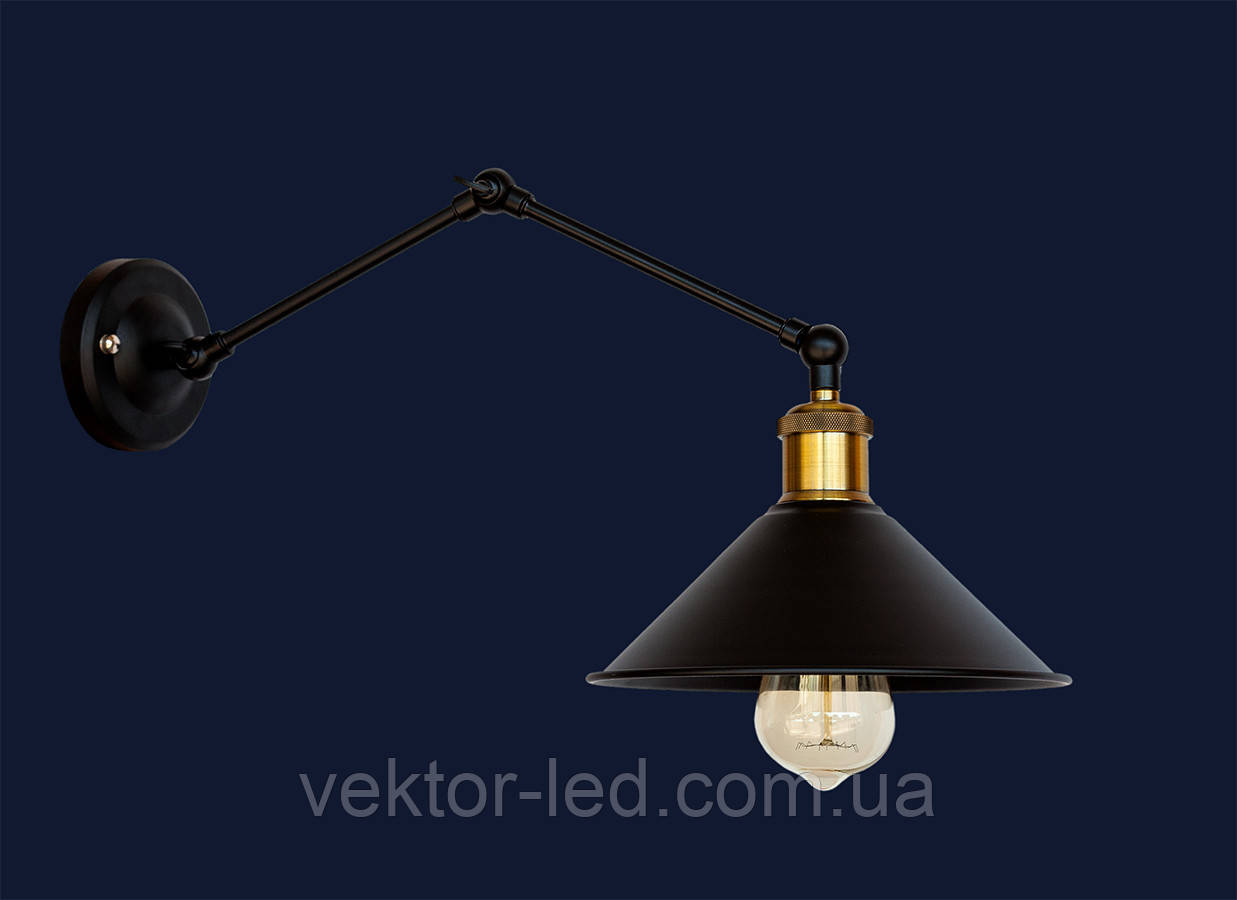 Светильник бра LOFT L07WZ103F-1 BK