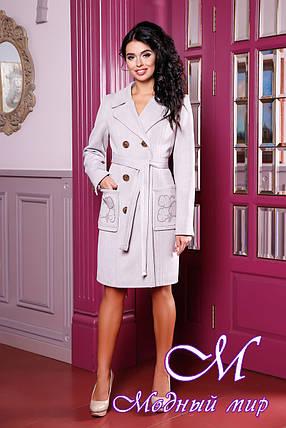 Женское демисезонное пальто больших размеров (р. 44-54) арт. 1008 Тон 2, фото 2