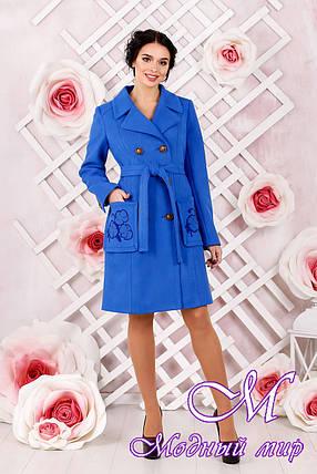 Женское пальто больших размеров (р. 44-54) арт. 1008 Тон 7, фото 2