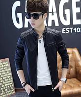 Мужская кожаная куртка. Модель 61116