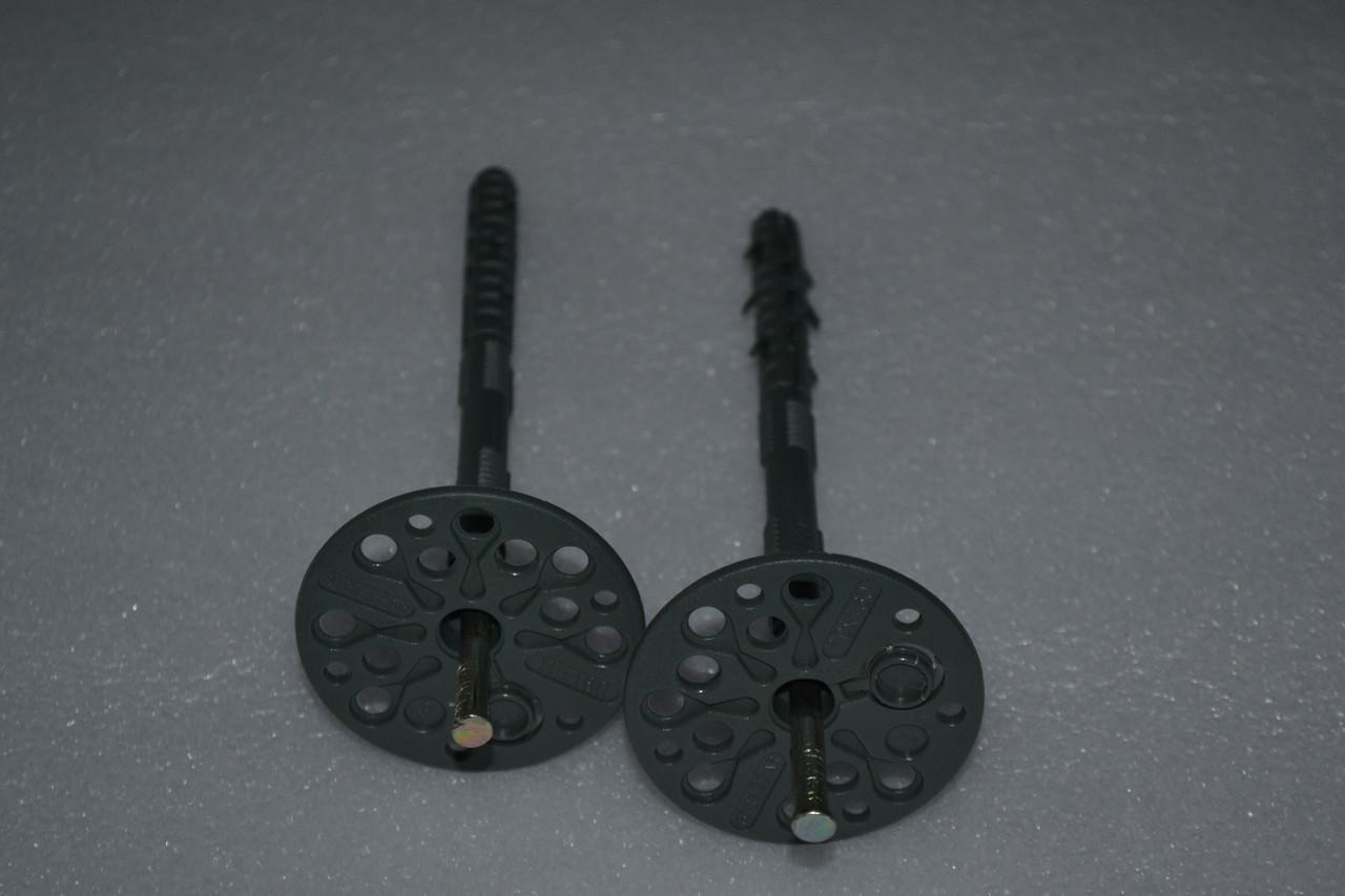 Дюбель-зонт монтажный с оцинкованным гвоздем и термозаглушкой (стандарт) 10х90мм.