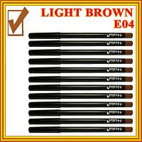 Светло- Коричневый Матовый Карандаш для Глаз и Губ Косметический Nabi Light Brown, Набором в 12 шт.