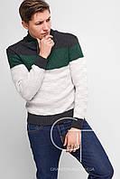Мужской свитер с высоким воротником на кулисе