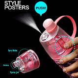 Спортивная бутылка со спреем New B. 600мл розовый, фото 8