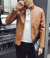 Мужская кожаная куртка. Модель 61117