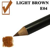 Карандаш для глаз и губ, цвет Light Brown, светло-коричневый косметический Nabi E04