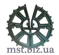 Фиксатор ПВХ Колесо 50, звездочка усиленная на арматуру, Турция, 200 штук. в упаковке
