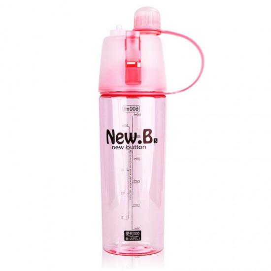 Спортивная бутылка со спреем New B. 600мл розовый